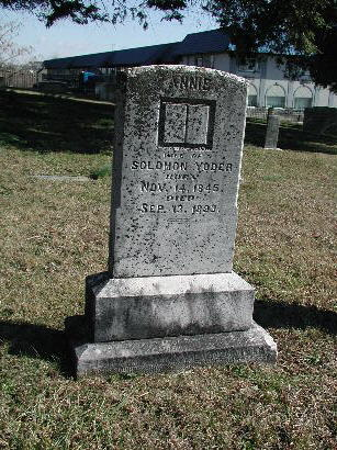 Annie Mast Yoder, wife of Solomon Yoder
